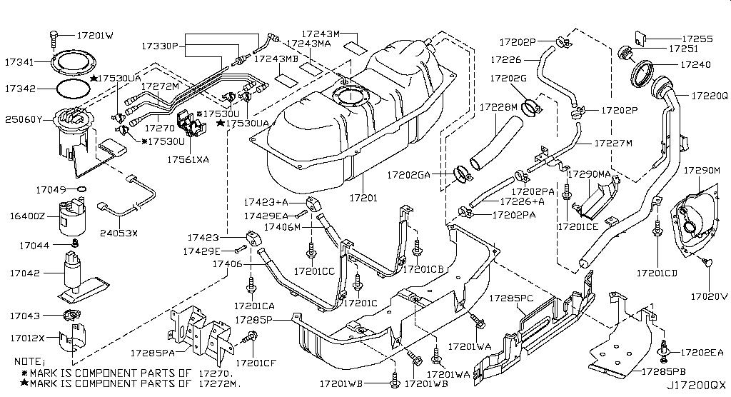 Asia LHD, URVAN (E25), FUEL & ENGINE CONTROL, FUEL TANK