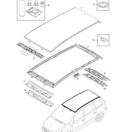 gm part number genuine part number description range roof panel  [ 2528 x 3556 Pixel ]