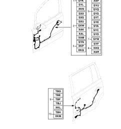 gm part number genuine part number description range rear door harness  [ 2480 x 3508 Pixel ]