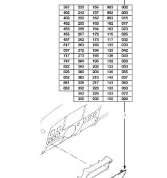 gm part number genuine part number description range fuse box cover  [ 1860 x 2631 Pixel ]