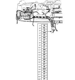 gm part number genuine part number description range instrument panel wiring harness  [ 1860 x 2631 Pixel ]