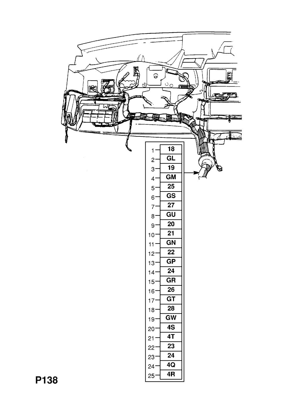 medium resolution of  gm part number genuine part number description range instrument panel wiring harness