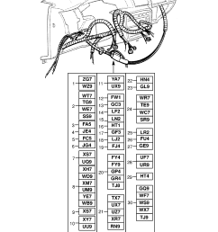 vauxhall vectra b 1996 2002 p electrical 9 wiring harness list of parts [ 1860 x 2631 Pixel ]