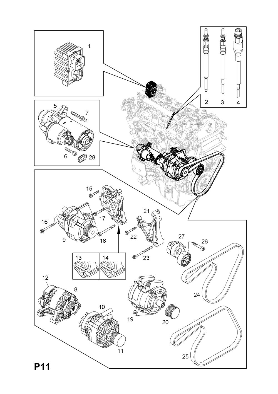 medium resolution of corsa starter motor wiring diagram