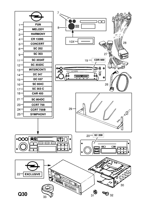 small resolution of vauxhall cdr 500 wiring diagram wiring libraryvauxhall corsa b 1993 2002 q accessories