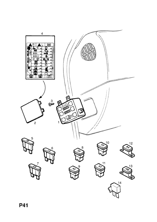 small resolution of opel frontera b 1999 2004 p electrical 10 fuses 1 fuse vauxhall frontera fuse box diagram circuit
