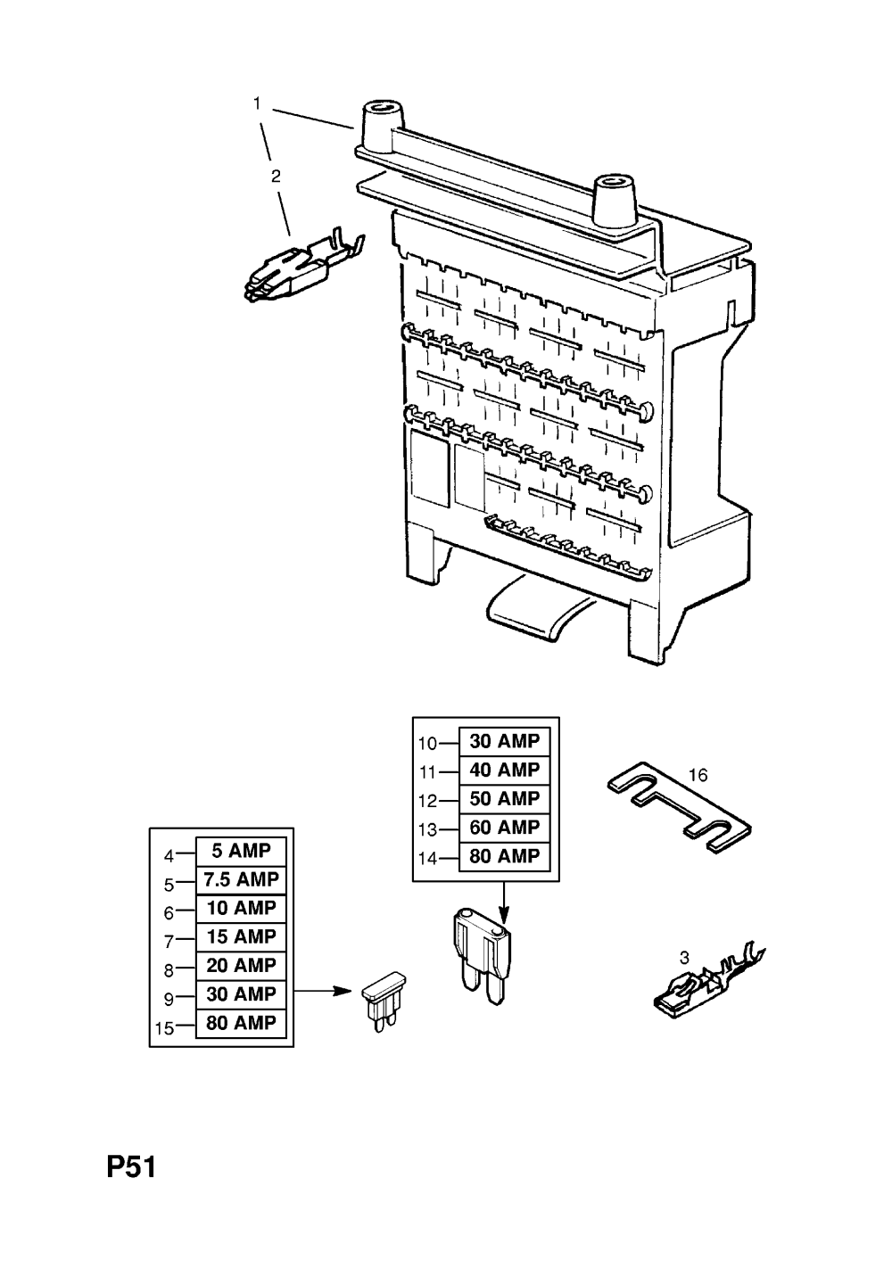medium resolution of  gm part number genuine part number description range fuse box