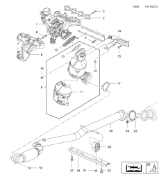 gm part number genuine part number description range exhaust manifold  [ 2478 x 3504 Pixel ]