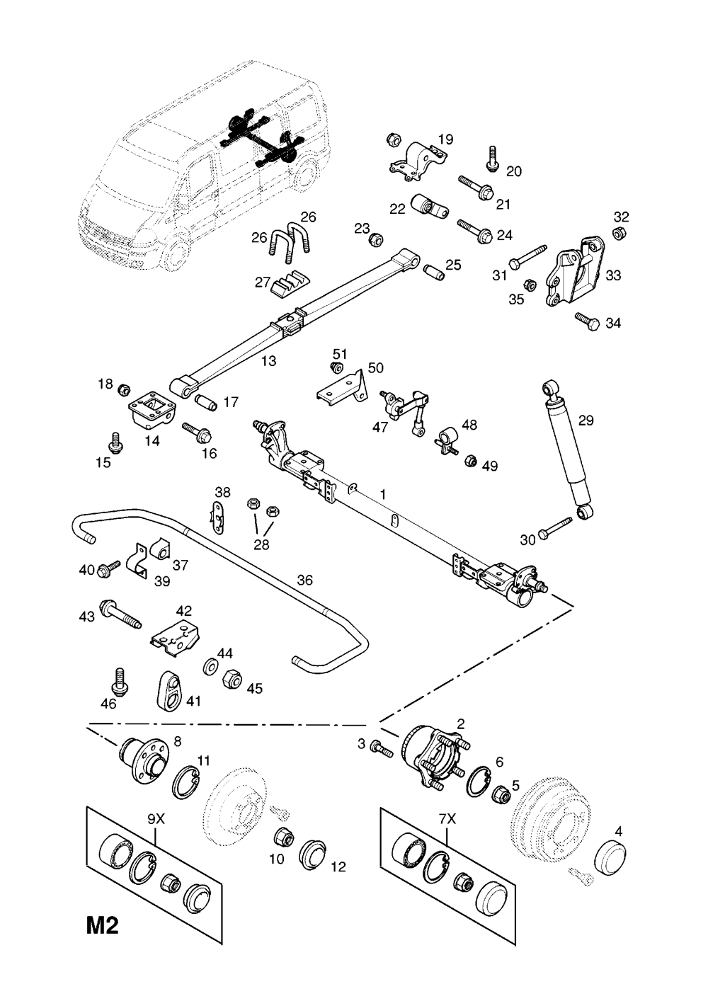 medium resolution of  gm part number genuine part number description range rear suspension