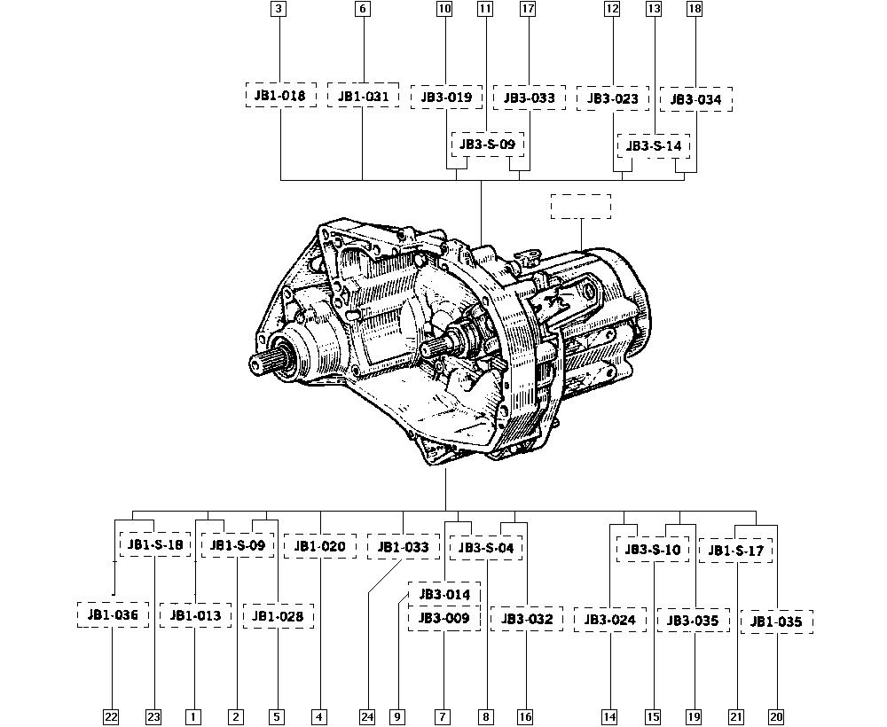 R5 New, C405, Manual, 21 Manual gearbox / Manual gearbox