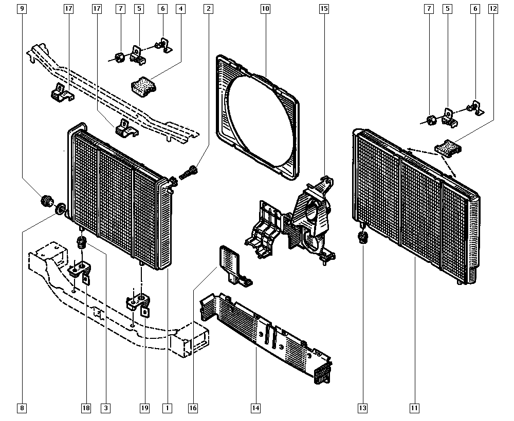 Trafic (from march 1989), TE9A, Manual, 19 Cooling system