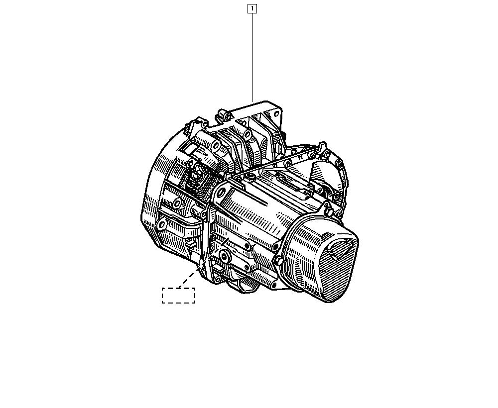 Clio II, CB1N, Manual, 21 Manual gearbox / Manual gearbox
