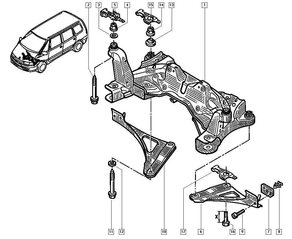Espace III Avantime, DE0T, Manual, 31 Front bearing