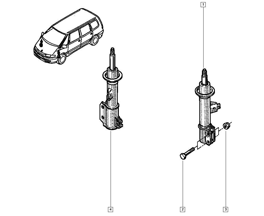Espace III Avantime, JE0E, Manual, 32 Non bearing front