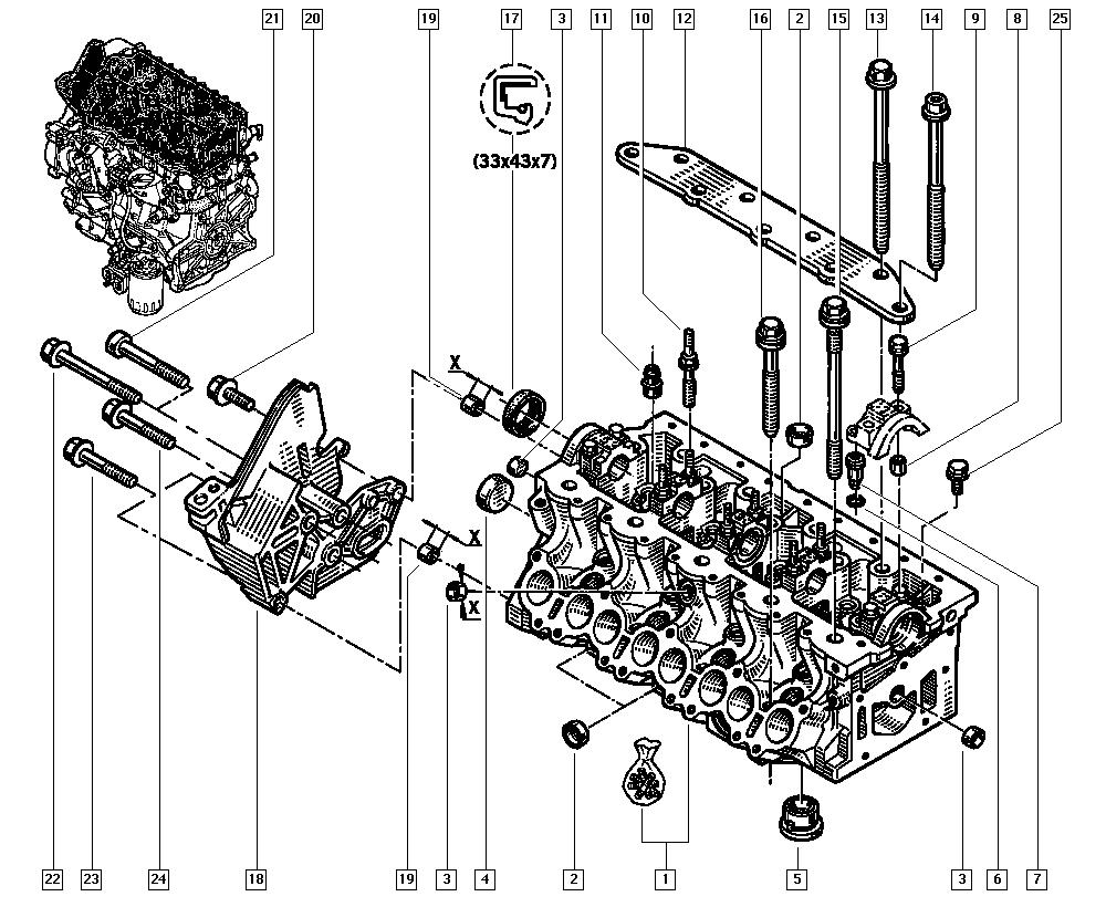 Espace III Avantime, JE0E, Manual, 11 Upper engine