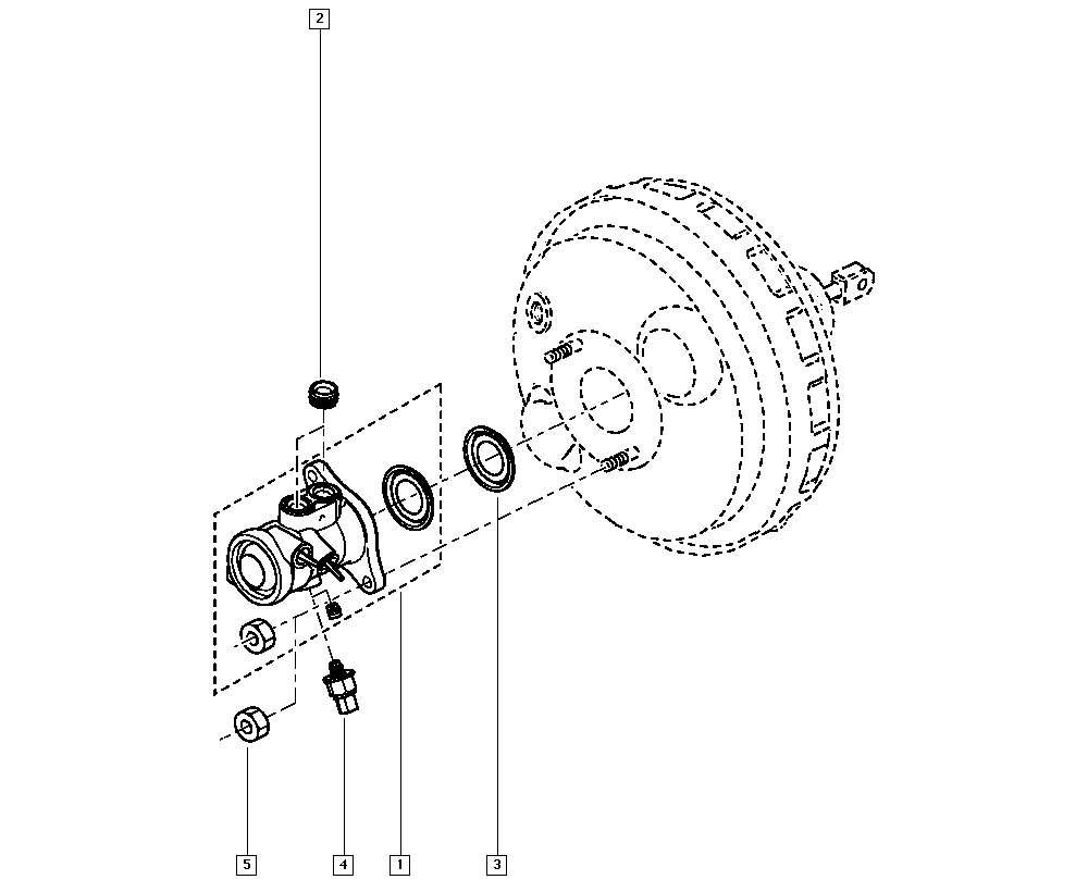 Espace IV, JK01, Manual, 37 Pedal assembly / Brake master