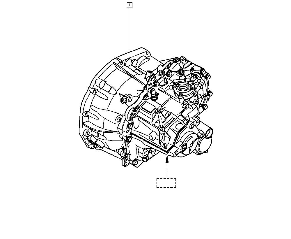 Mégane II, BM05, Manual, 21 Manual gearbox / Manual