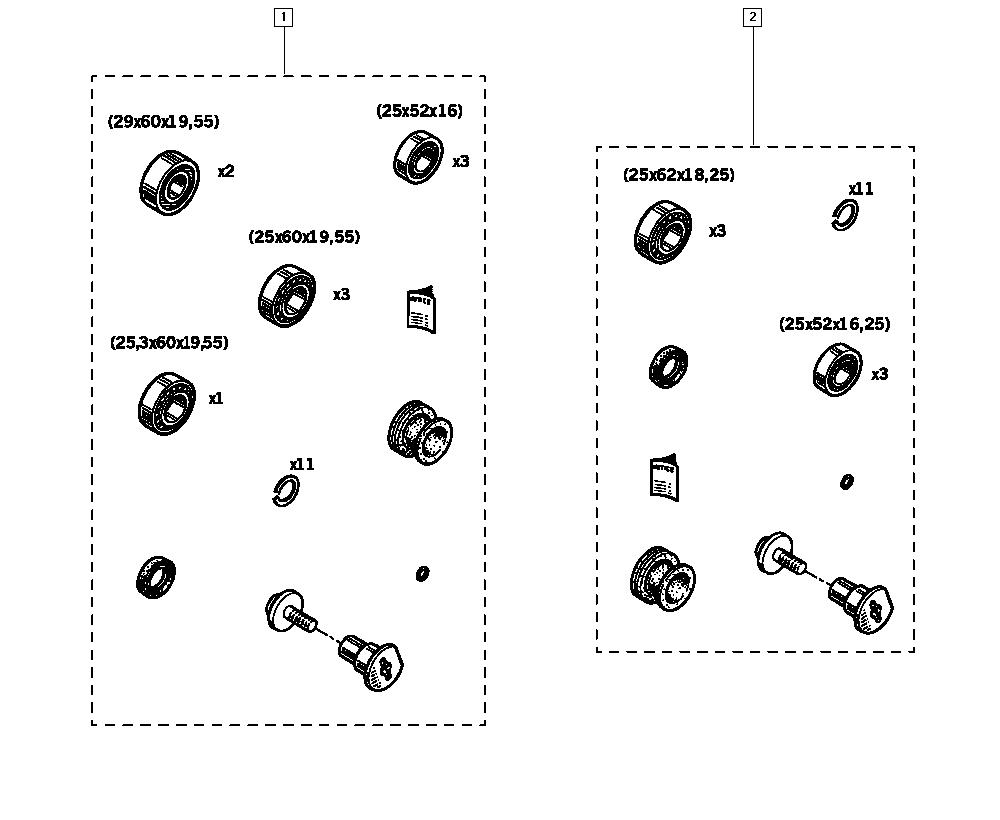 Espace III Avantime, JE0K, Manual, 21 Manual gearbox