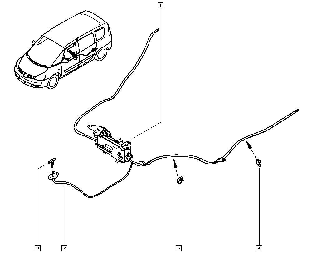 Espace IV, JK01, Manual, 38 Hand controls / Hand brake
