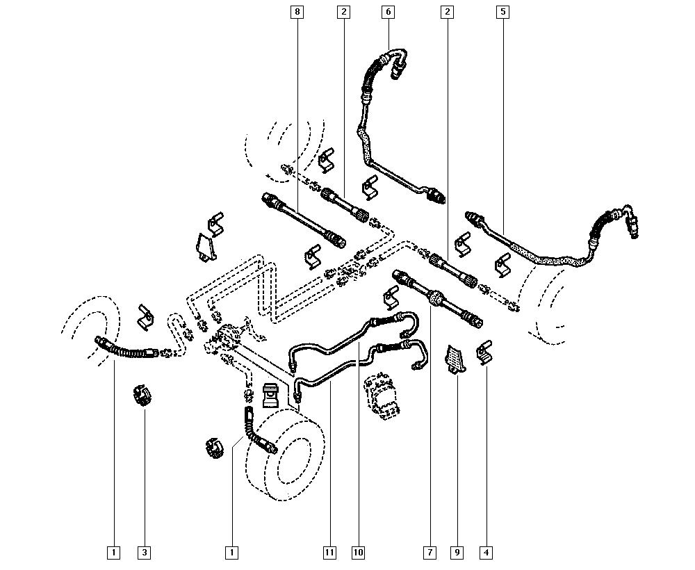 Scénic I, JA05, Механические узлы, 37 Педали