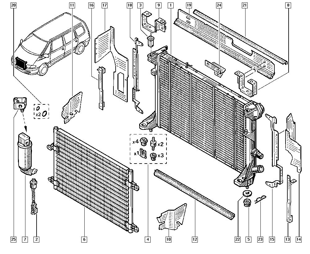 Espace III Avantime, JE0E, Manual, 19 Cooling system
