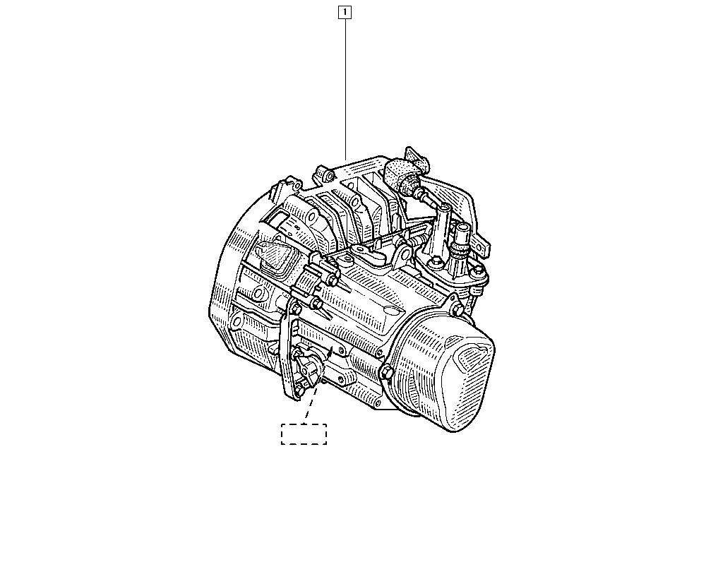 Logan Sandero I, BS0D, Manual, 21 Manual gearbox / Manual