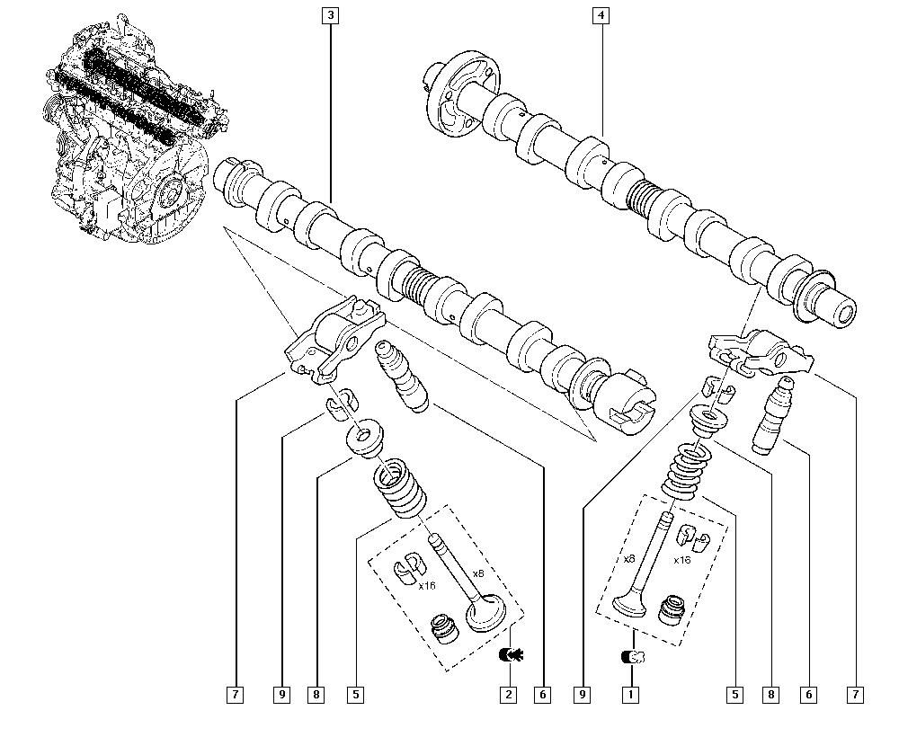 Trafic II, FL0H, Manual, 11 Upper engine / Valve timing