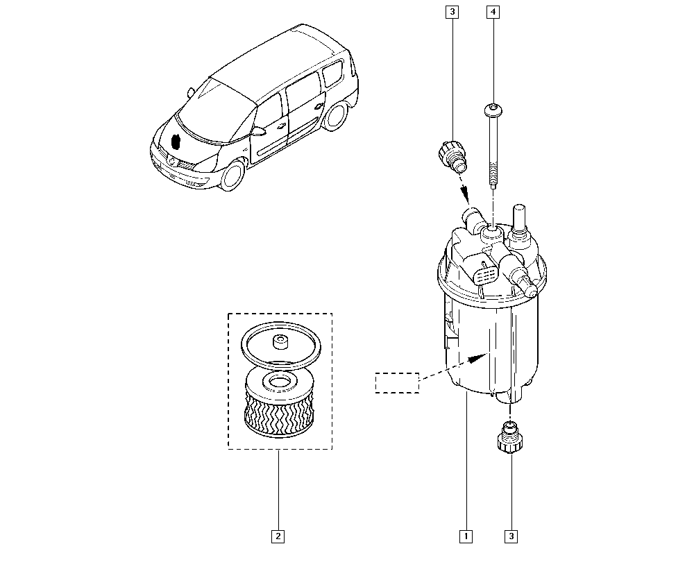 Espace IV, JK0J, Manual, 13 Fuel supply / Diesel injection
