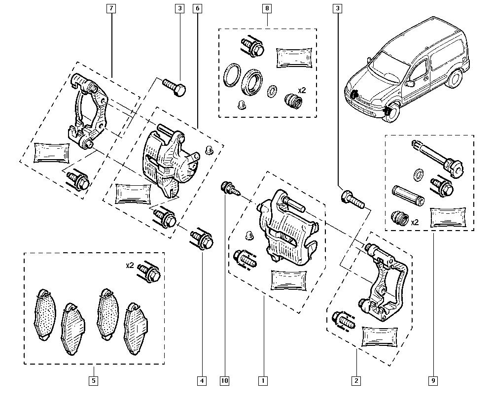 Kangoo, FC1F, Manual, 32 Non bearing front elements