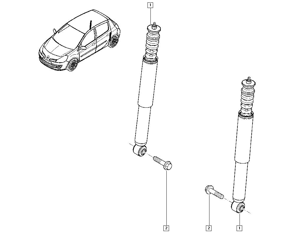 Clio III, CR0N, Manual, 34 Rear non-bearing elements