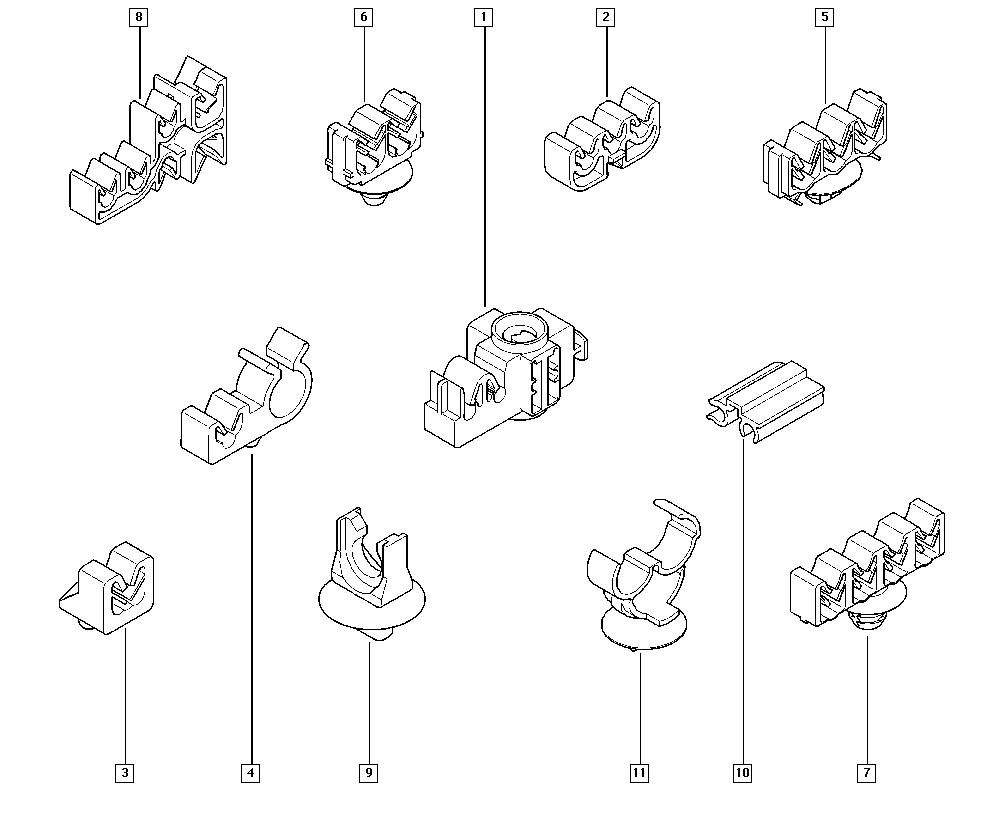Espace IV, JK01, Manual, 37 Pedal assembly / Clips