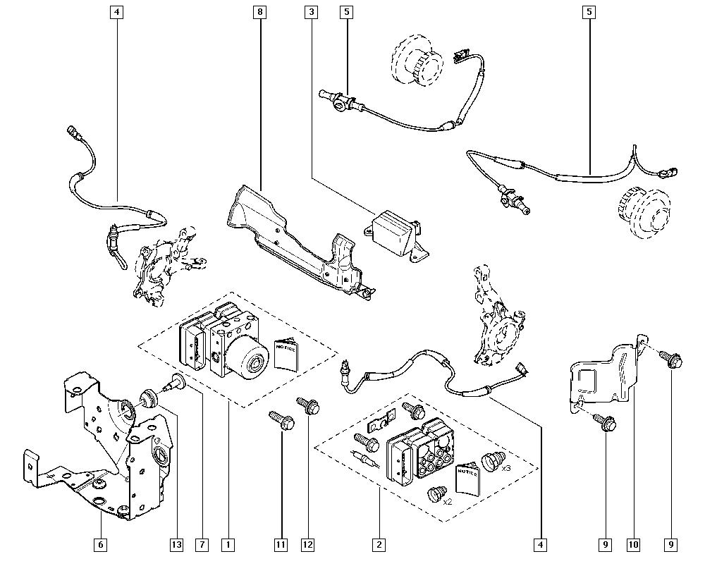 Espace IV, JK0J, Manual, 37 Pedal assembly / Anti-lock