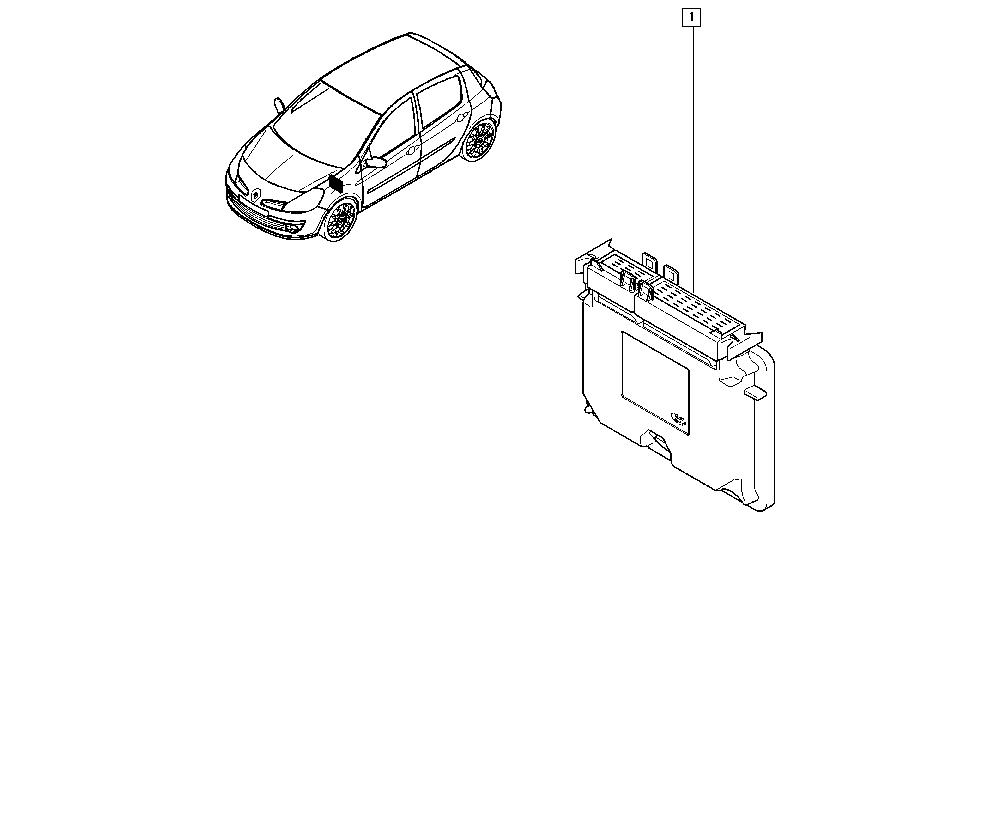 Clio III, CR0N, Manual, 21 Manual gearbox / Computer
