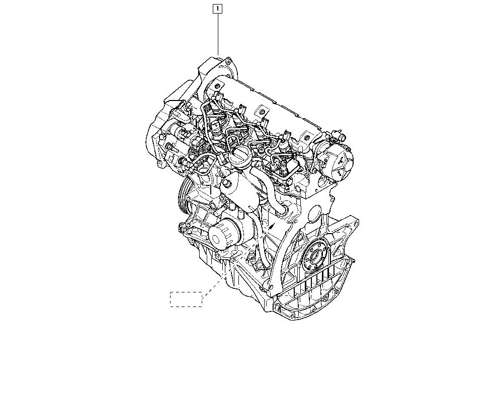 Scénic II, JM0G, Manual, 10 Engine / Complete engine