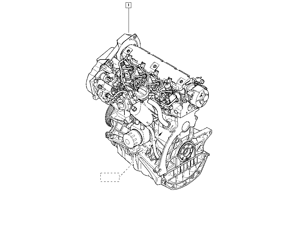 Mégane II, BM00, Manual, 10 Engine / Complete engine