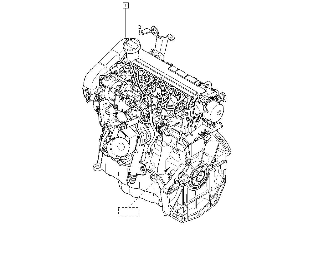 Mégane II, KM02, Manual, 10 Engine / Complete engine
