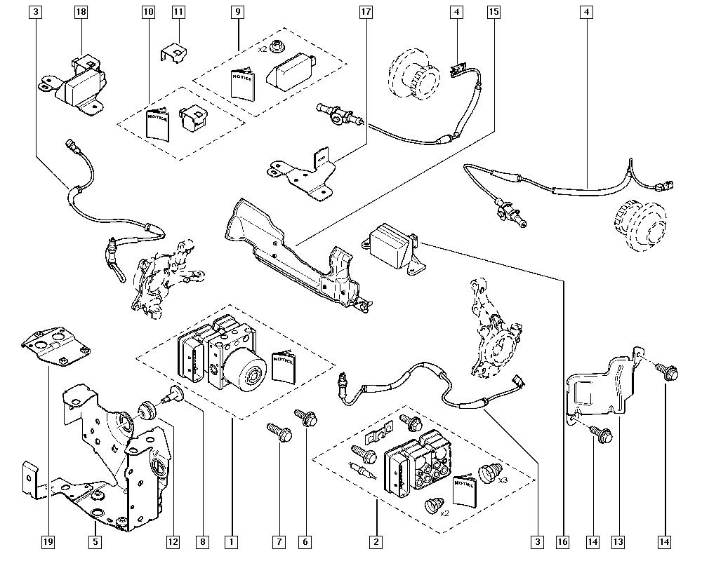 Laguna II, KG0G, Manual, 37 Pedal assembly / Anti-lock