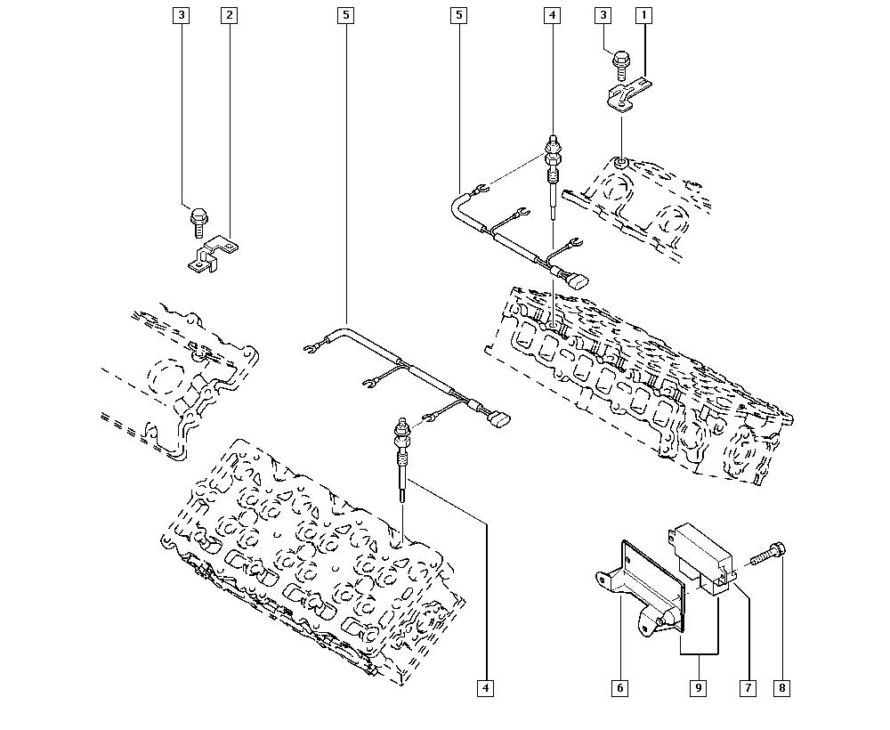 Espace IV, JK0J, Manual, 13 Fuel supply / Preheating
