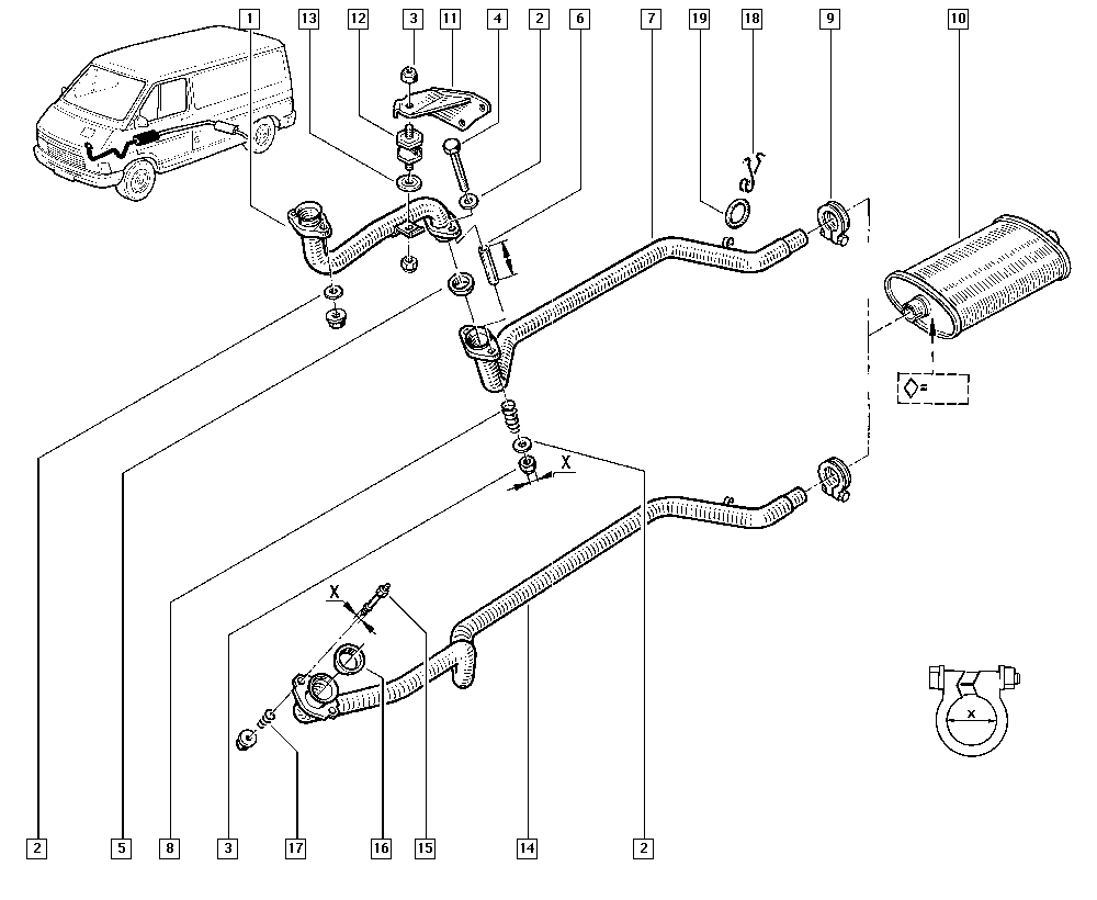 Trafic (from march 1989), T35B, Manual, 19 Cooling system