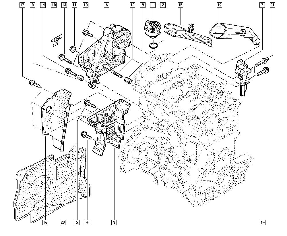 Clio III, CR0N, Manual, 11 Upper engine / Cylinder head