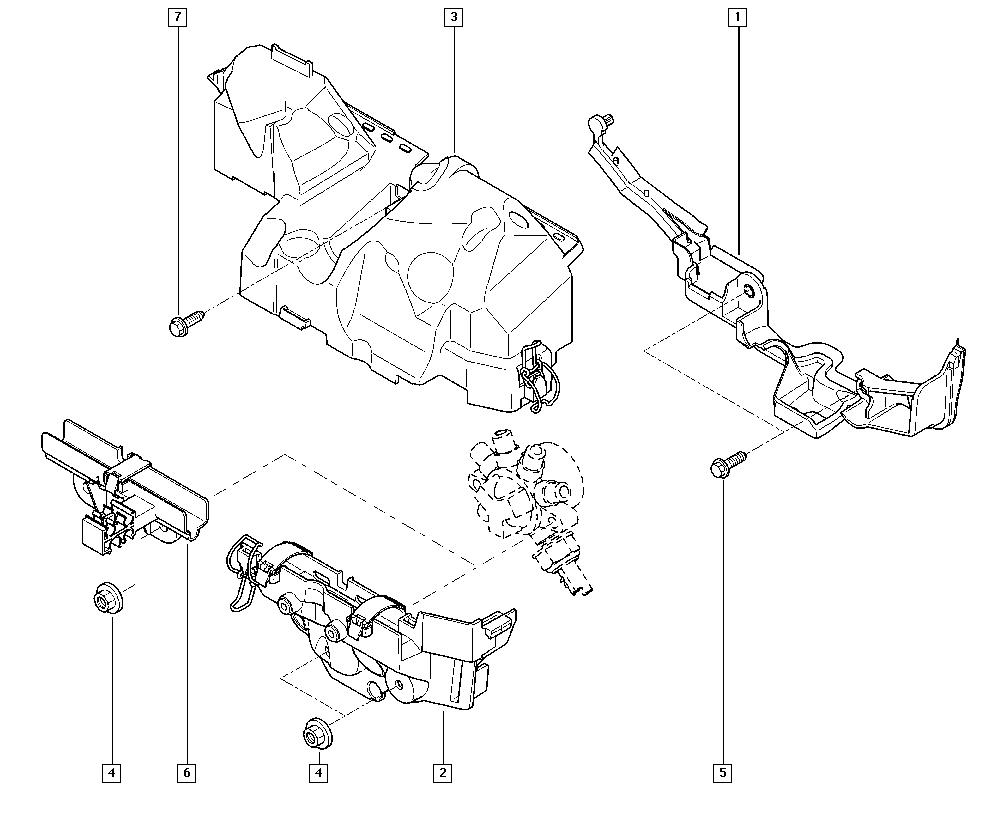 Kangoo II, KW0V, Manual, 13 Fuel supply / Injector