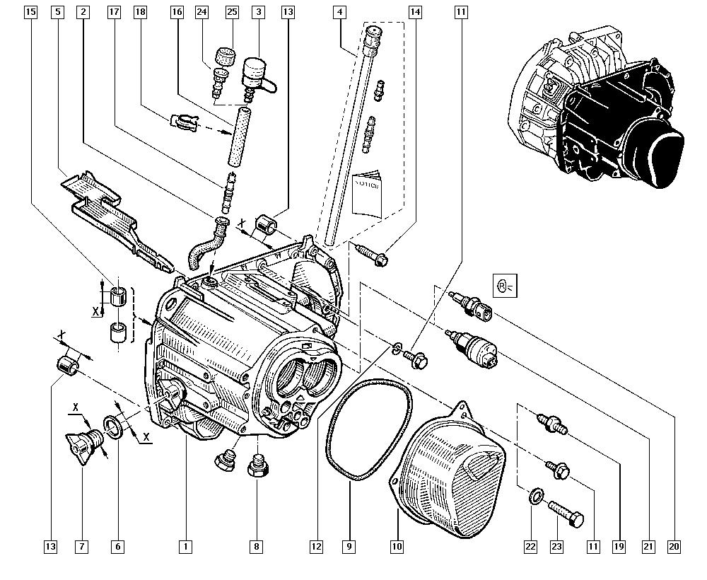 Laguna, 556B, Manual, 21 Manual gearbox / Gearbox casings