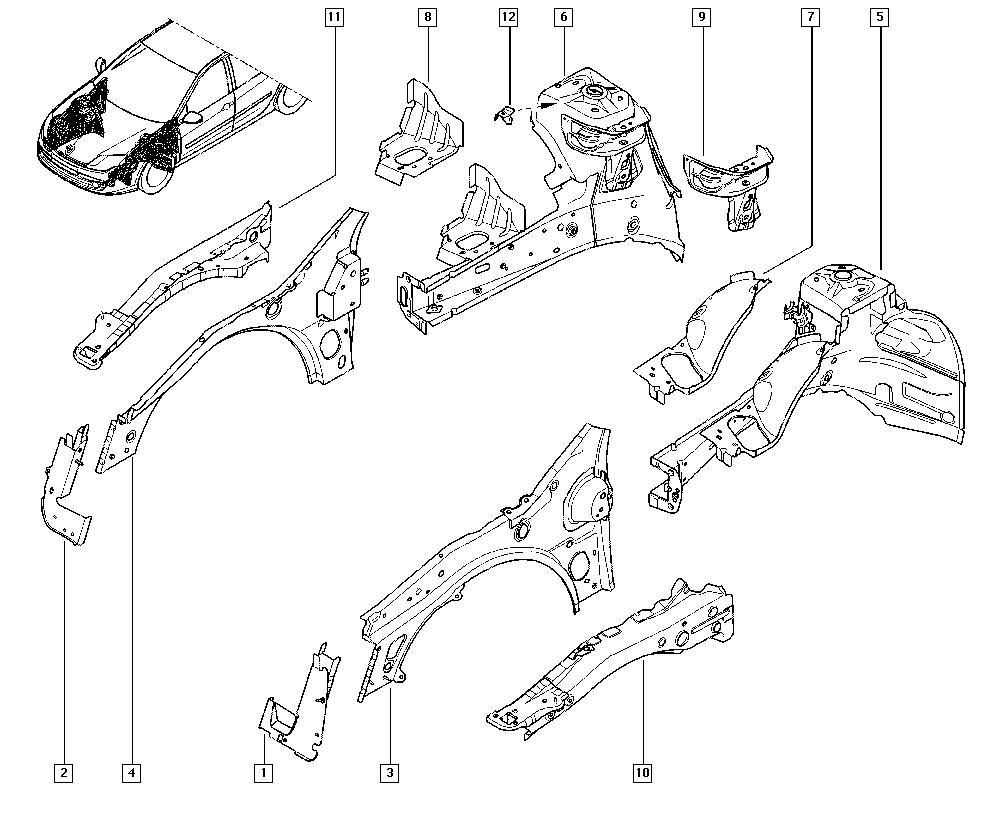 Laguna III, KT0P, Bodywork, 42 Front internal units