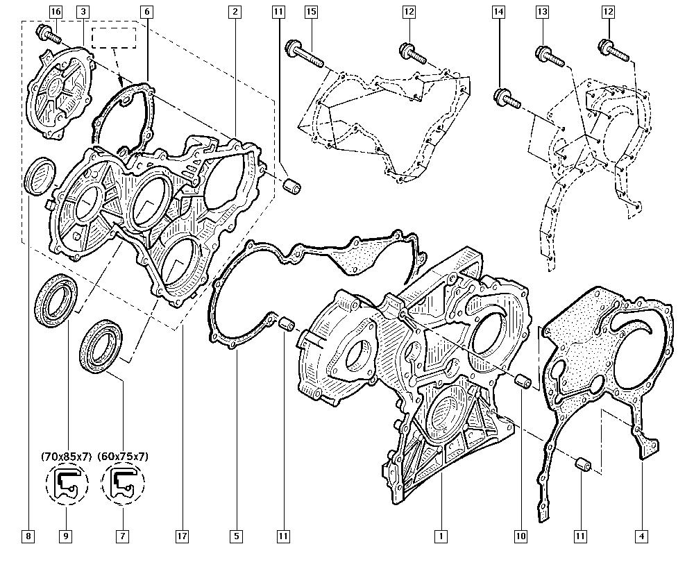 Master II, FD01, Manual, 11 Upper engine / Cylinder head