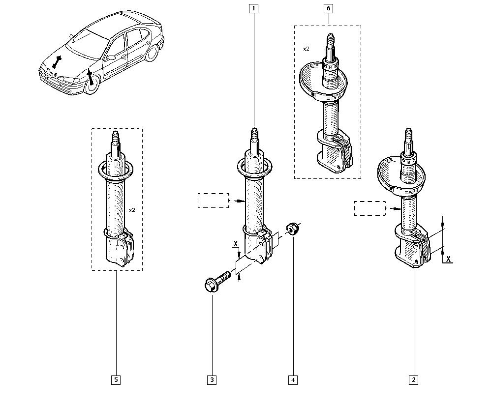 Mégane, BA09, Manual, 32 Non bearing front elements