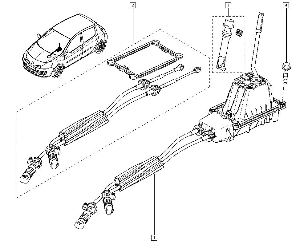Clio III, CR0N, Manual, 38 Hand controls / Manual speeds
