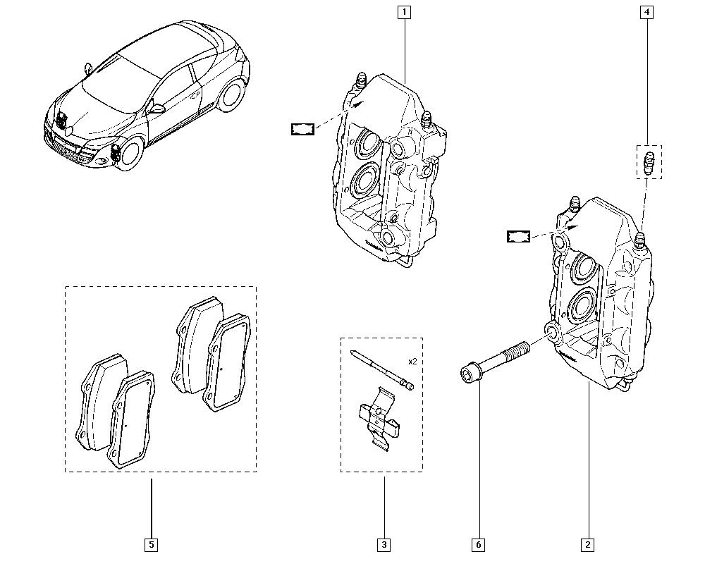 Mégane III, DZ1N, Manual, 32 Non bearing front elements