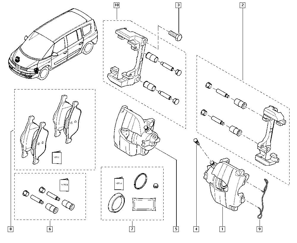Espace IV, JK01, Manual, 32 Non bearing front elements
