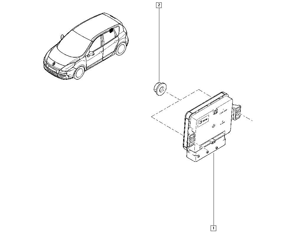 Scénic III, JZ0U, Manual, 38 Hand controls / Hand brake