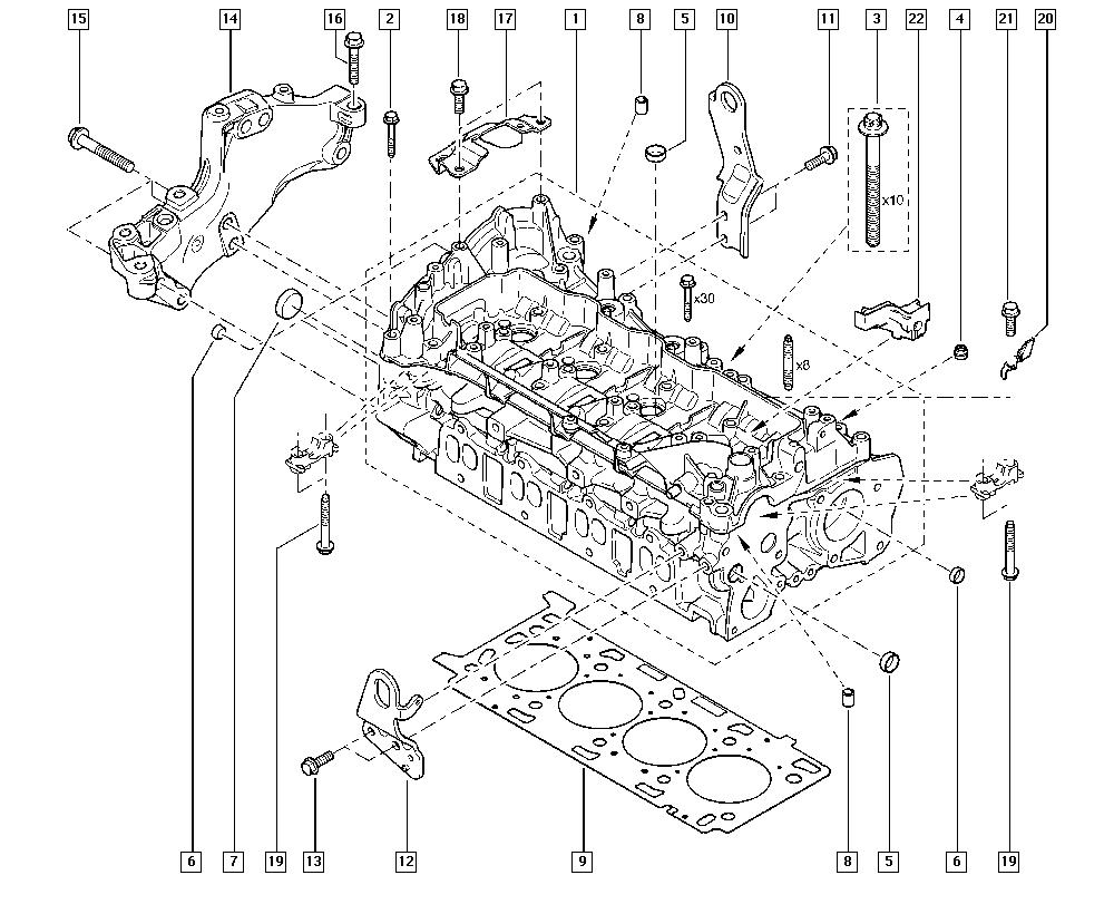 Trafic II, EL00, Manual, 11 Upper engine / Cylinder head
